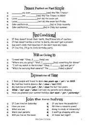 English Worksheet: oral exam