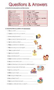 English Worksheets: Questions & Answers