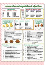 English Worksheets: Comparative and superlative of adjectives
