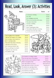 English Worksheet: Read - Look - Answer: Activities (3)