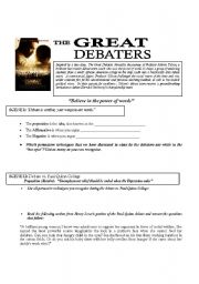 essay on the great debaters movie