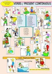 English Worksheets: Verbs  /Actions