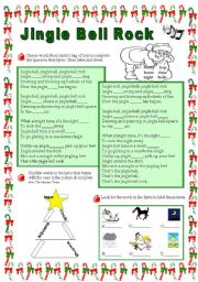 English Worksheet: Jingle Bell Rock Song