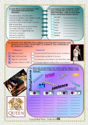 English Worksheets: Song: Present Perfect Simple - We Are The Champions Part 3 of 3