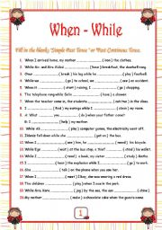 when while - ESL worksheet by elam