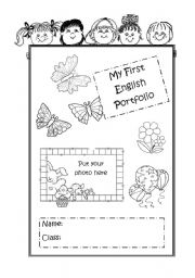 English Worksheets: My first English Portfolio