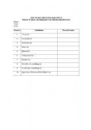English Worksheets: new word checking