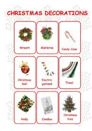 christmas decoration names and pictures - Christmas Decorations Names