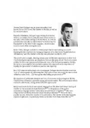 English Worksheets: JD Salinger catcher in the rye