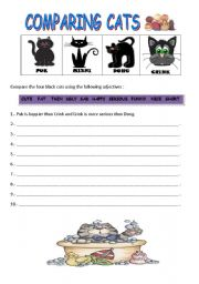 English Worksheets: COMPARING CATS