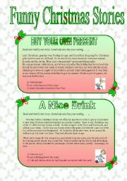 English Worksheet: Funny Christmas stories