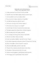 English Worksheets: Problem Pairs