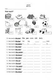 English Worksheet: How much?