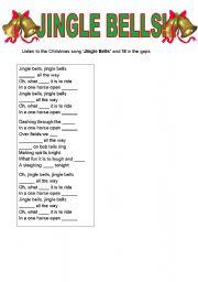 English Worksheet: Jingle Bells gap fill
