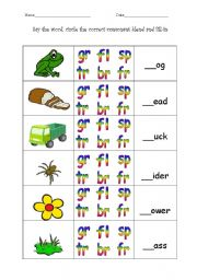 Printables Blends Worksheets english teaching worksheets consonant blends blends