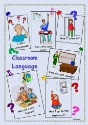 English Worksheet: Classroom Language 1-2