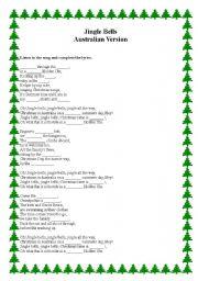 English Worksheet: Australian Jingle Bells / Worksheet