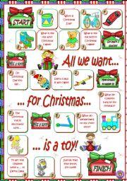 English Worksheets: CHRISTMAS BOARDGAME