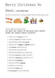 Merry Christmas Mr Bean with phrasal verbs