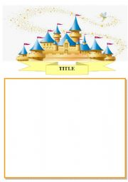 English Worksheets: Castle template