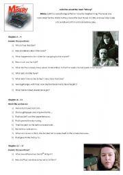 English Worksheets: Misery - Stephen King
