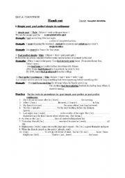 English Worksheets: practice worksheet