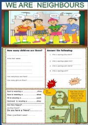 English Worksheets: Picture talk.