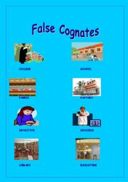 English Worksheet: False cognates