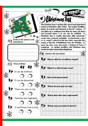 English Worksheet: RC Series_HO HO Edition_04 Christmas Tree (Fully Editable + Key)