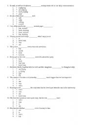 English Worksheet: Excercise of subject - verb agreement