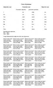 english worksheets cases of pronoun. Black Bedroom Furniture Sets. Home Design Ideas