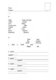 English Worksheets: Examen global