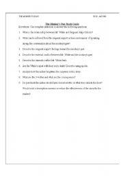 English Worksheets: Monkey�s Paw Worksheet