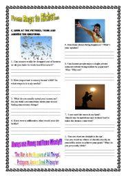 English Worksheet: Money +Fame 2