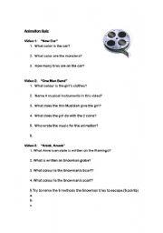 English Worksheets: Pixar Movie Quiz.