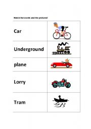 English Worksheets: Match the words and the pictures!