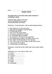 English Worksheets: Get into Action!