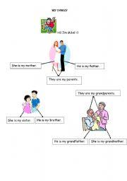 English worksheet: family