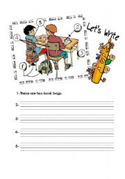 English Worksheets: this is & these are