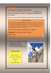English Worksheet: Extreme Sports (Editable)