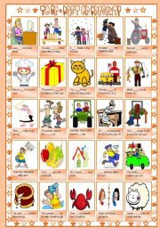 English Worksheet: To be - Past or Present? [B&W version included] ((2 pages)) ***editable