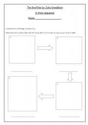 English Worksheet: The gruffalo story sequence activity