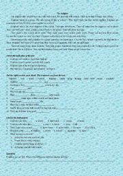 English Worksheet: The Dolphin