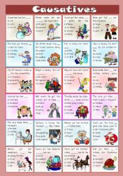 English Worksheet: Causatives - exercises [B&W version included] ((2 pages)) ***editable