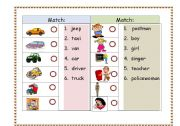 English Worksheets: Match the common nouns