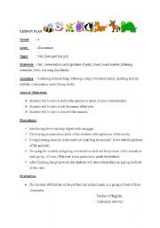 English Worksheets: Lesson Plan (Pets)
