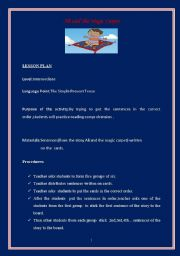 English Worksheet: Lesson Plan (reading comprehension and sequencing)