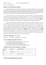 English Worksheet: education in ancient Rome