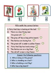 English Worksheets: Choose the right fairy or elf!