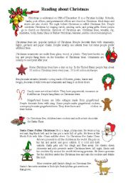 English Worksheet: Christmas reading